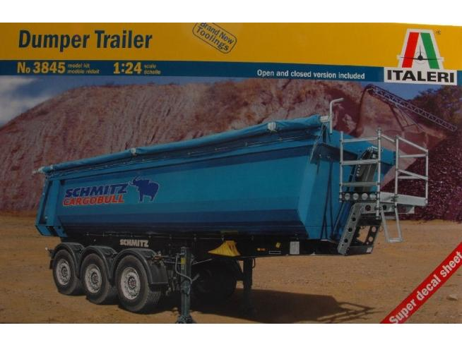 Italeri IT3845 DUMPER TRAILER KIT 1:24 Modellino