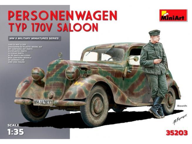 Miniart MIN35203 PERSONENWAGEN TYP 170V SALOON KIT 1:35 Modellino