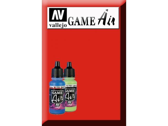 Vallejo Game Air Hot Arancione 72709 Colori