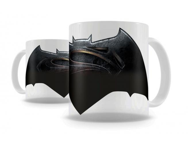 SD TOYS BATMAN VS SUPERMAN LOGO THERMAL MUG TAZZA
