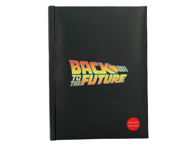 SD TOYS BTTF LOGO LIGHT UP NOTEBOOK TACCUINO