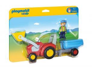 Playmobil 6964 - 1.2.3 Trattore con Benna e Rimorchio