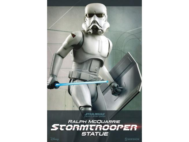 SIDESHOW TOYS SW STORMTROOPER RALPH MCQUARRIE STATUA