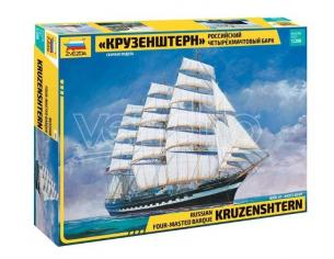 Zvezda Z9045 KRUSENSTERN SAILING SHIP KIT 1:200 Modellino