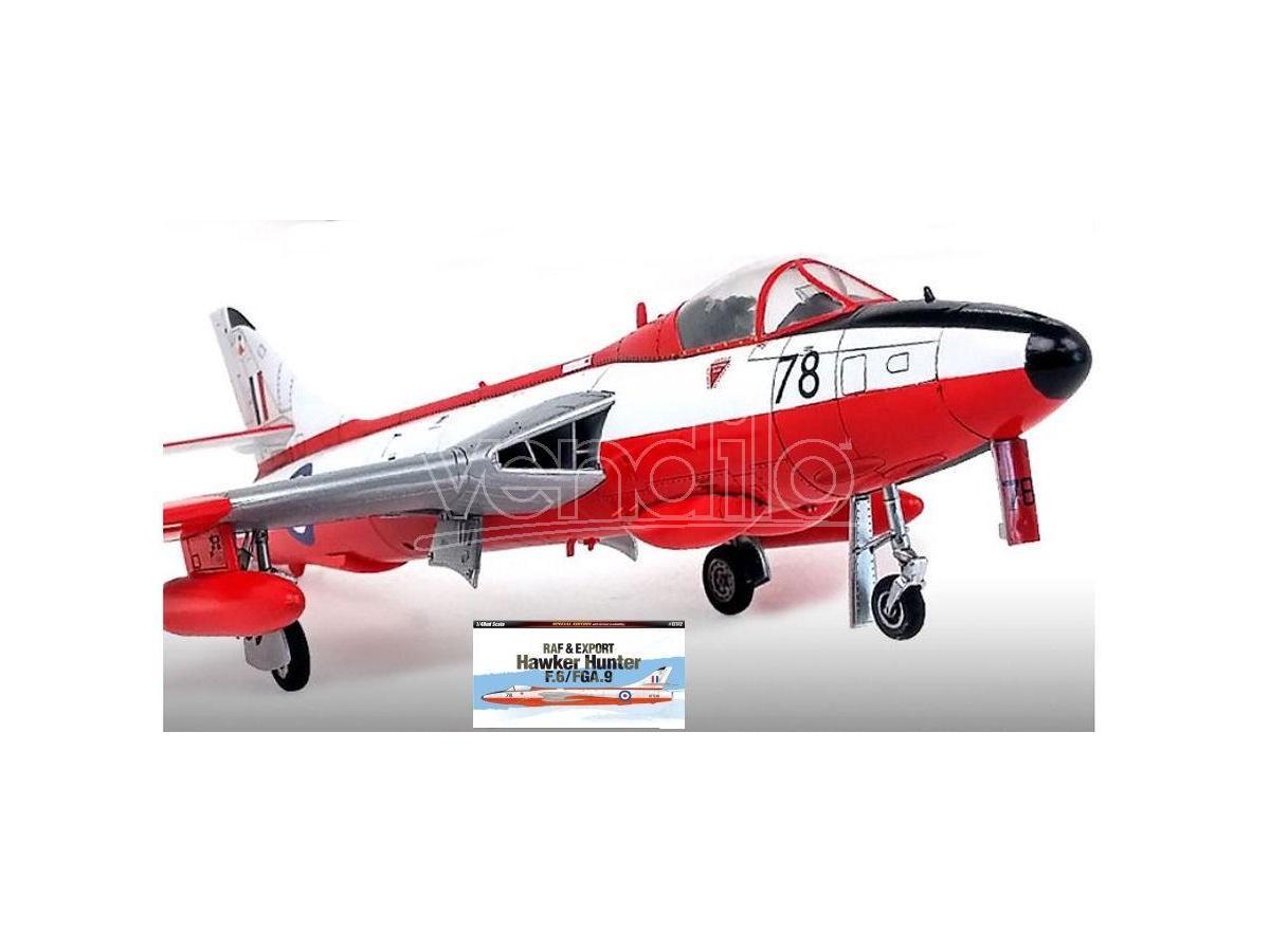 ACADEMY ACD12312 HAWKER HUNTER F.6/FGA.9 KIT 1:48 Modellino