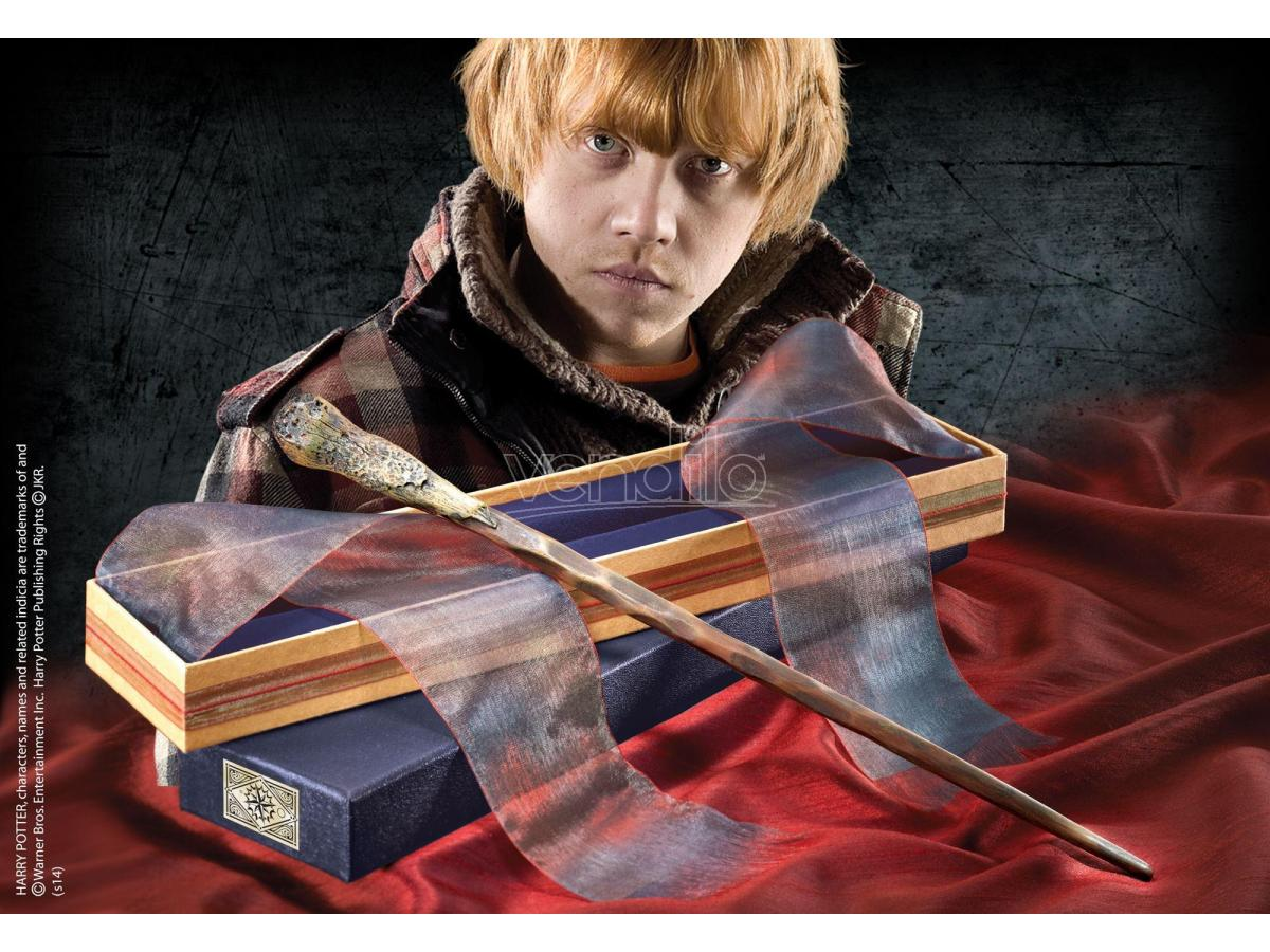 Bacchetta Magica Ron Weasley Harry Potter Olivander Noble Collection