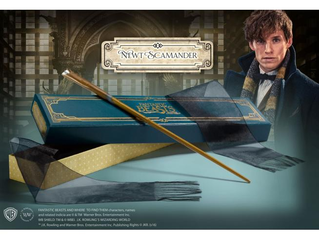 Animali Fantastici  Bacchetta Magica Newt Scamandro  Olivander Noble Collection