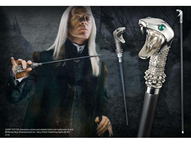 Harry Potter Bastone E Bacchetta Lucius Malfoy Replica Noble Collection