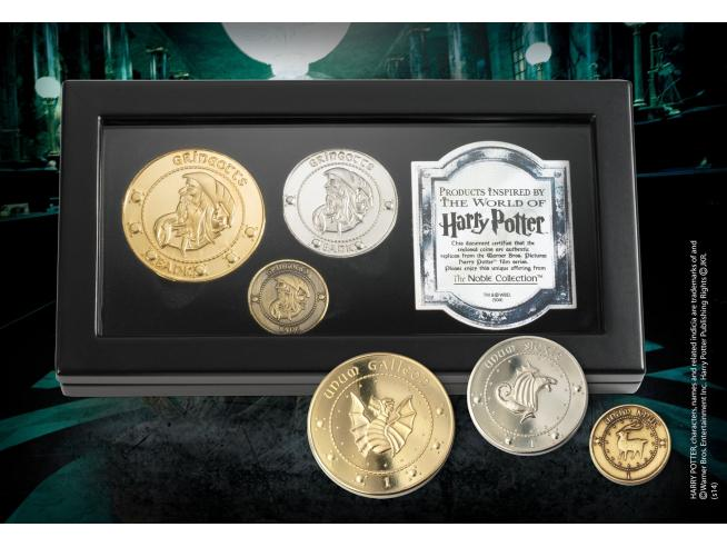 Set di Monete della Banca di Gringotts Harry Potter Noble Collection