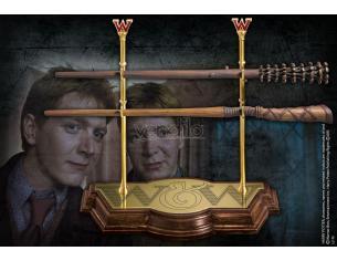 Bacchetta Magica Gemelli Weasley con Espositore Harry Potter Characters Noble Collection
