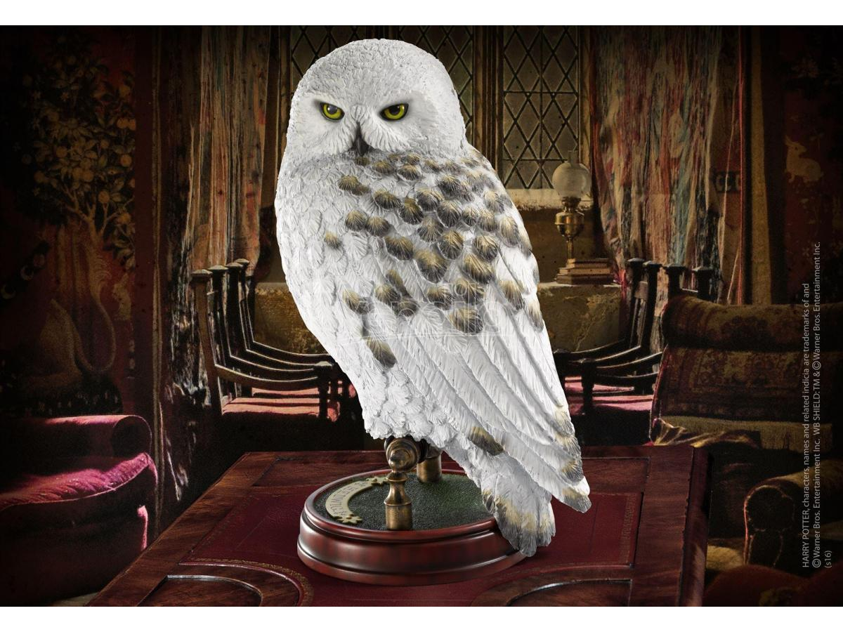 Harry Potter  Statua Con Piedistallo Edvige Replica  24 Cm Noble Collection