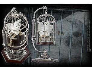 Miniatura di Edwige nella Gabbia Harry Potter Hedwig and Cage Noble Collection