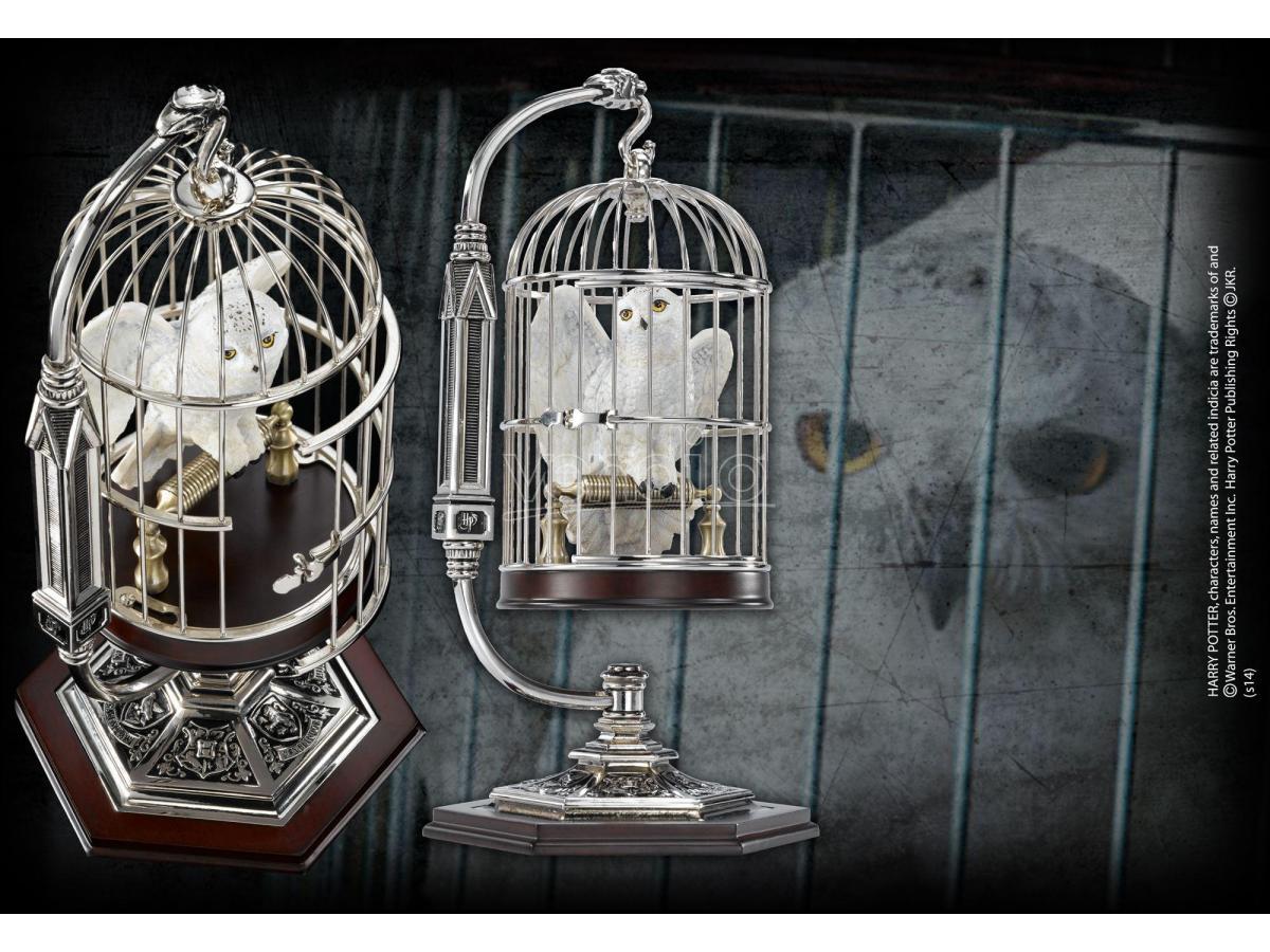 Miniatura di Edwige nella Gabbia Harry Potter 10 cm Noble Collection