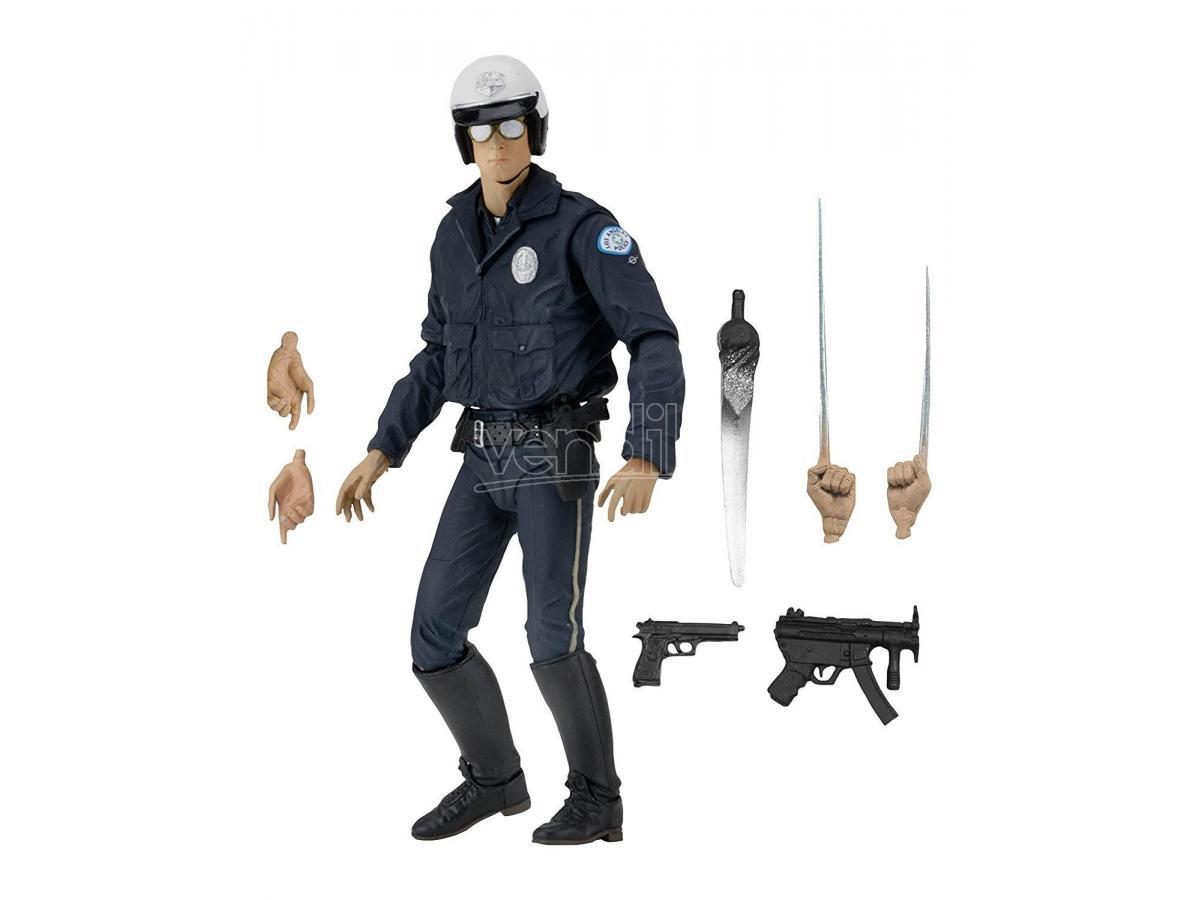Terminator 2 Ultimate T-1000 Motorcycle Cop 18 Cm Action Figura Neca Figures