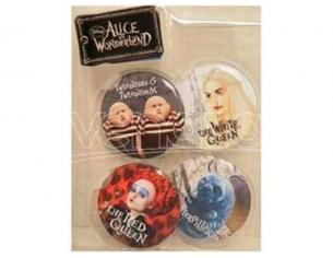 SCATOLA ROVINATA - MONOGRAM ALICE -PIN SET TWEEDLE DEE/DUM RED QUEEN