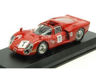 Best Model BT9647 ALFA ROMEO 33.2 LE MANS TEST 1968 BIANCHI-ZECCOLI-GROSSELIN-TROSCH 1:43 Modellino