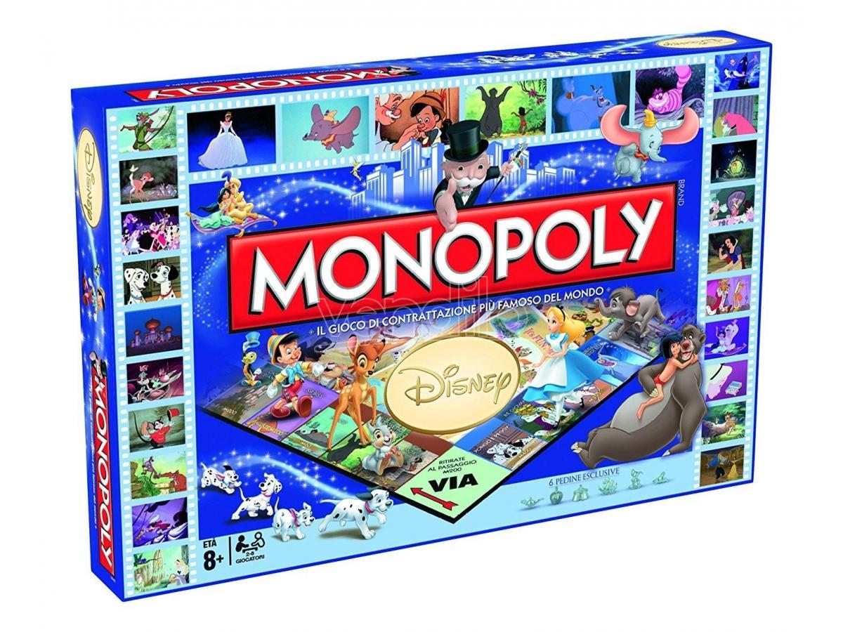 Gioco da Tavolo Monopoly Classici Disney Versione Italiana Winning Moves