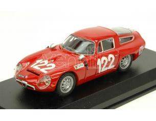 Best Model BT9649 ALFA ROMEO TZ1 N.122 28th TARGA FLORIO 1966 LO PICCOLO-SUTERA 1:43 Modellino