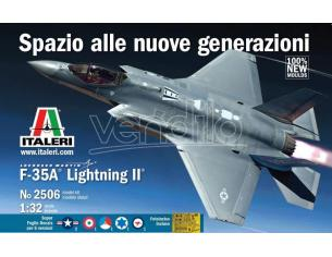 Italeri IT2506 F-35A LIGHTING II LOCKHEED (49 cm) DECALS x 5 VERSIONI  KIT 1:32 Modellino
