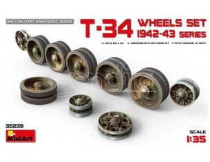 Miniart MIN35239 T-34 WHEELS SET 1942-43 SERIES  KIT 1:35 Modellino