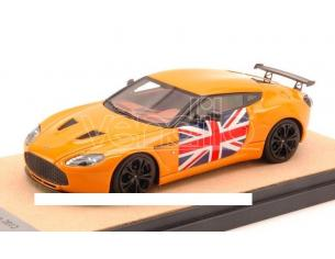 Tecnomodel TMDMI52AM ASTON MARTIN V12 ZAGATO 2012 GLOSS ORANGE W/ENGLISH ED.LIM.PCS 10 1:43 Modellino
