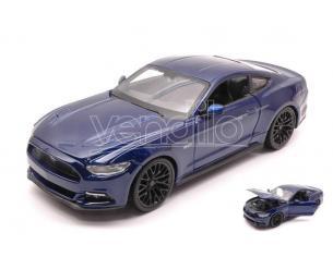Maisto MI31508BL FORD MUSTANG GT 2015 BLUE 1:24 Modellino