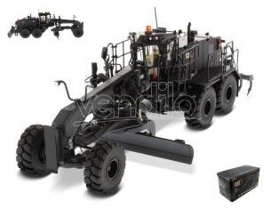 Diecast Master DM85522 MOTOR GRADER CAT 18M3 BLACK 1:50 Modellino