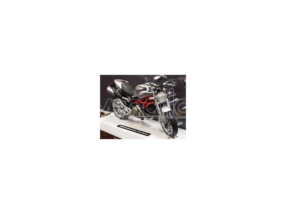New Ray NY44023 DUCATI NEW MONSTER 1100 SILVER 1:12 Modellino