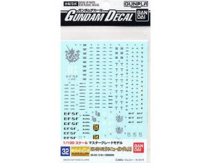 BANDAI MODEL KIT GUNDAM DECAL 32 MG GUNDAM HI NU ACCESSORI