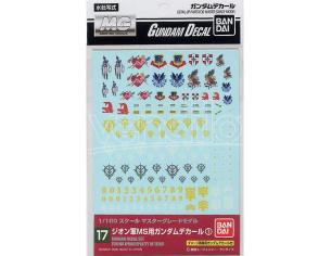 BANDAI MODEL KIT GUNDAM DECAL 17 MG MULTI ZEON ACCESSORI