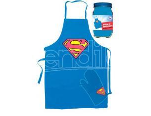 SD TOYS SUPERMAN APRON AND OVEN GLOVE ACCESSORI CUCINA