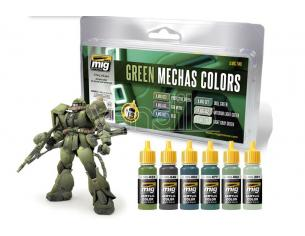 AMMO BY MIG JIMENEZ GREEN MECHAS COLORS SET 7149 COLORI