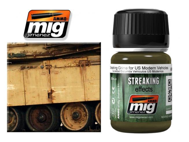 AMMO BY MIG JIMENEZ STREAKING GRIME US MOD VEHICL A.MIG1207 COLORI