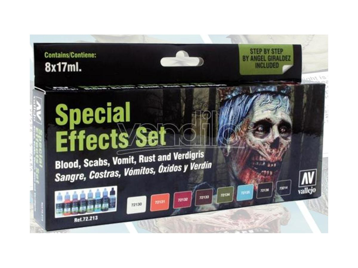 VALLEJO SPECIAL EFFECTS BOX SET 72213 COLORI