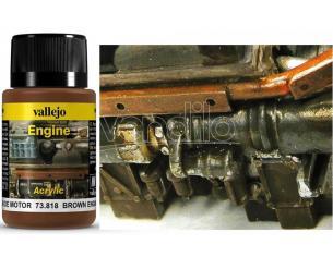 VALLEJO WEATHERING BROWN ENGINE SOOT 40ML 73818 COLORI