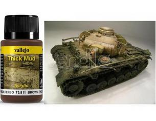 VALLEJO WEATHERING BROWN THICK MUD 40ML 73811 COLORI