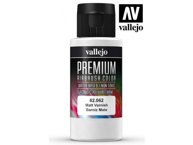VALLEJO PREMIUM AIRBRUSH MATT VARNISH 62062 COLORI