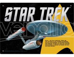 AQUARIUS ENT STAR TREK ENTERPRISE TIN SIGN INSEGNA