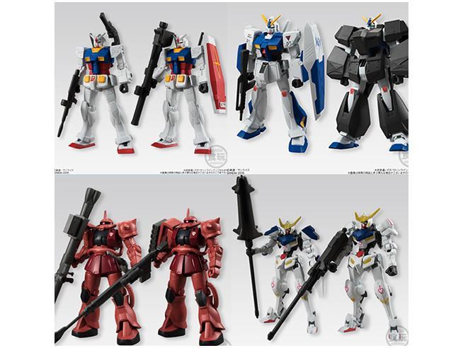 Bandai Shokugan Gundam Universal Unit Display (10) Kit Mini Figura