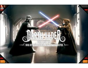 SD TOYS POSTER SW VADER WHEN I LEFT YOU GLASS POSTER