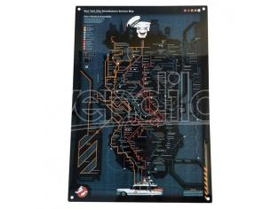 Factory Entertainment GHOSTBUSTERS NYC SUBWAY MAP METAL SIGN POSTER