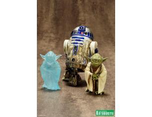 KOTOBUKIYA SW YODA & R2-D2 DAGOBAH 2PK ARTFX+ ST STATUA