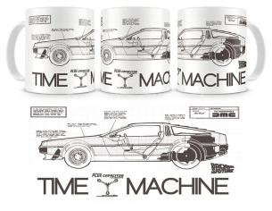 SD TOYS BTTF TIME MACHINE CERAMIC MUG TAZZA