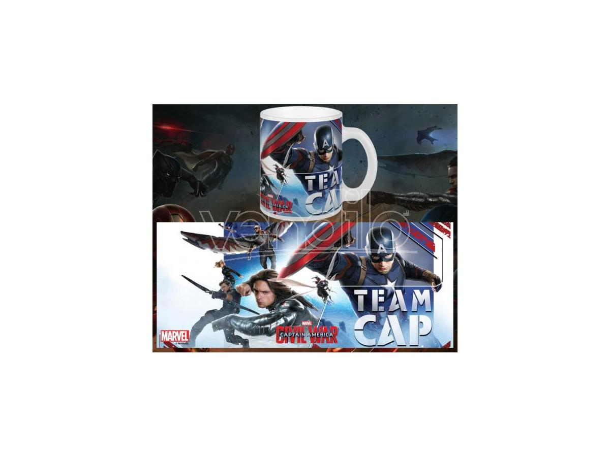 SEMIC CAPTAIN AMERICA CW TEAM CAP MUG TAZZA