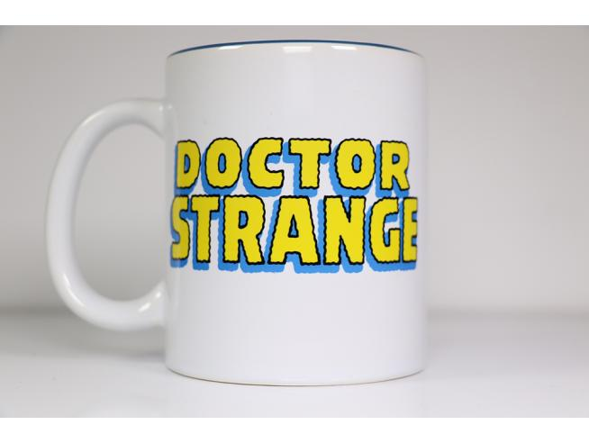 SD TOYS DOCTOR STRANGE FACE WHITE MUG TAZZA