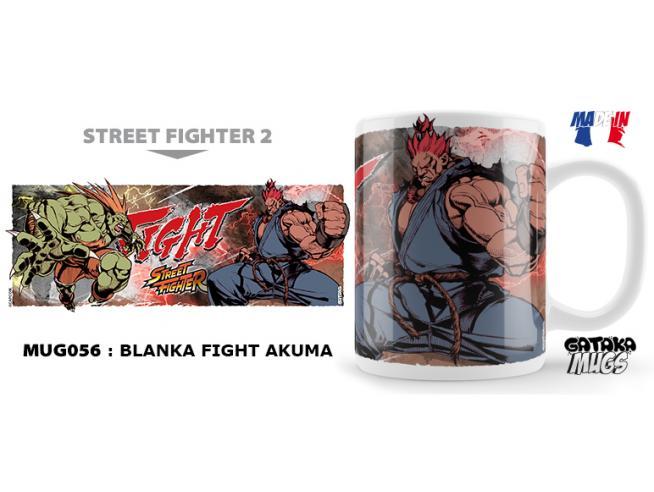 NEKOWEAR STREET FIGHTER BLANKA FIGHT AKUMA MUG TAZZA