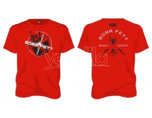 SD TOYS T-SHIRT SW BOBA FETT BOUNTY HUNTER RED MEN TAGLIA S T-SHIRT