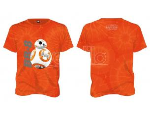 SD TOYS T-SHIRT SW EP7 BB-8 TIE DYE ORANGE MEN TAGLIA L T-SHIRT