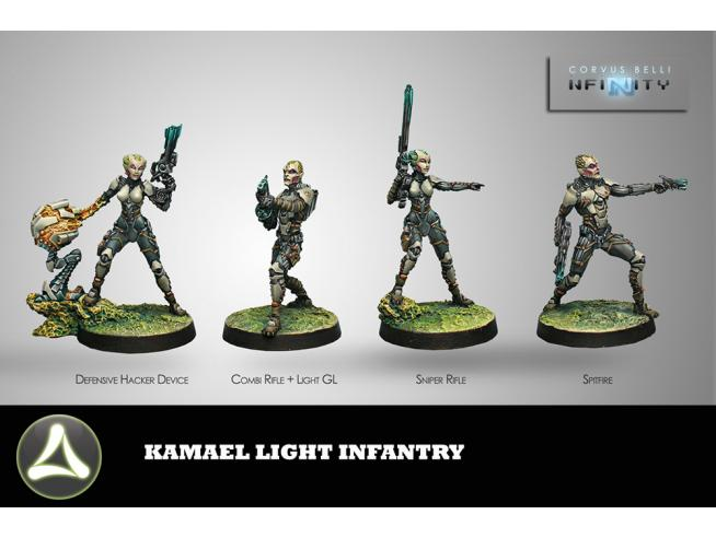 CORVUS BELLI 0435 TOHA KAMAEL LIGHT INFANTRY WARGAME