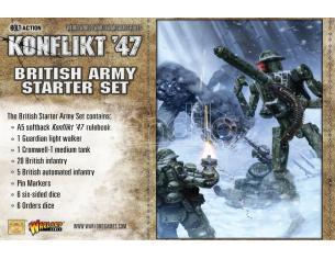 WARLORD GAMES KONFLIKT 47 BRITISH ARMY STARTER SET WARGAME